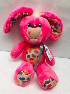 "Yum Yums Pink Jellybean Bunny Rabbit Plush 1980s Girl toys Kawaii Hallmark 14"""