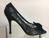 SACHA LONDON  Damen Pumps High Heels Schuhe Spitze Offen Zehe Schwarz Gr:38 NEU