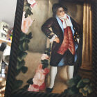 Antique 19th Century Reverse Glass Painting of a Man in Colonial Clothing