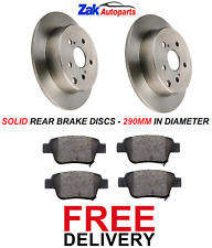 FOR TOYOTA COROLLA VERSO 2.0 2.2 D-4D 2004-2009 REAR BRAKE DISCS & PADS SET