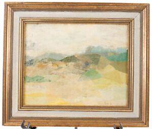 Torn Paper Landscape Framed Original Abstract Mountain Art Spectrum Gallery