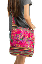 Pink Cute Hobo Bag Roomy Spacious Hippie Elephant Casual Light Weight Casual