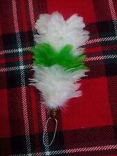 TC Pennacchio di piume Berretto scozzese cappello bianco,Verde,Bianco/Balmoral