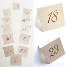 BRAND NEW 1-30 EVENT PARTY WEDDING EVENT PAPER CARD TABLE NUMBERS WHITE GOLD