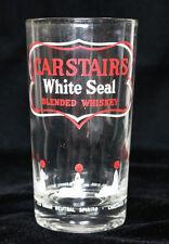 Carstairs White Seal Blended Whiskey 10oz Glass Tumbler Seals Balancing Ball