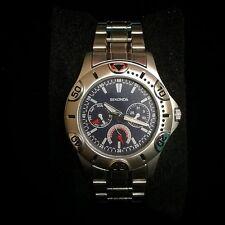 Mens sekonda chronograph watch silver and blue *NEW* *UK Seller*