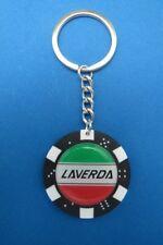LAVERDA LOGO POKER CHIP DICE KEYRING KEY RING CHAIN #281