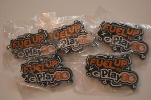 Lot of (5) NEW Green Bay Packers Fuel Up To Play 60 Keychains W/Ring