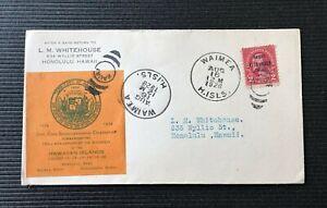 Waimea Kauai Hawaii-Cook Sesquicentennial Cover c1928 w SC# 647 2c Washington