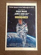 Moonraker Original Movie Poster James Bond 007-1979 Roger Moore Art D. Goozee