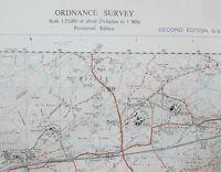 Old 1950 OS Ordnance Survey 1:25000 First Series Map SU95 Pirbright War Office