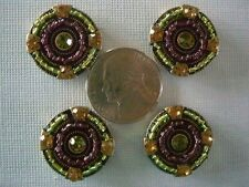 2 Hole Slider Beads Beaded Circles Mixed Crystal Made with Swarovski Elements #4