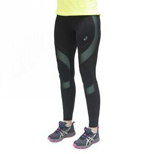 Asics Women's Running Tights Leg Balance Muscle Support Tights - Aqua Mint - New