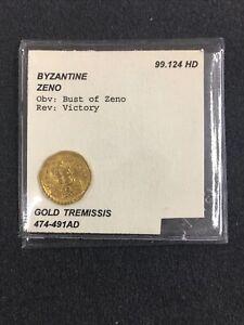 Byzantine Zeno Gold Coin