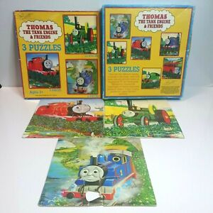Vintage 1996 Thomas The Tank Engine & Friends Jigsaw Puzzles 6, 9 & 12 Piece