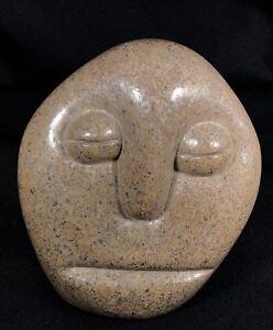FANIZANI AKUDA Sad Face Stone Head Sculpture by Shona Sculptor Zimbabwean