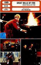 Movie Card. Fiche Cinéma. Great balls of fire (USA) 1989