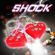Electric Shock Heart KeyChain Toy Gadget Gag Joke Funny Prank Trick Novelty