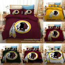 Washington Redskins Football Bedding Set 3PCS Duvet Cover Pillowcase Quilt Cover