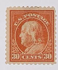 Travelstamps: 1917-1919 US Stamps Scott# 516 30c Franklin Orange Red Mint NG