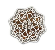 High quality round white crochet guipure lace doily/table mat/napkin  Ø25cm-9.8""
