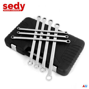Extra Long Ring Spanner Set Aviation Spanner 7-Pcs Double Ring End Durable 10-24