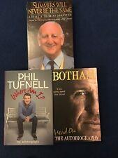 Three Autobiography's. Ian Botham / Phil Tufnell/Brian Johnston