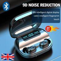 Bluetooth 5.0 Headset TWS Wireless Earphones Mini Earbuds Stereo Headphones UK~