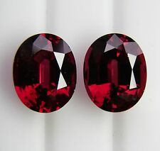 NATURAL ALMANDINE GARNET 6.51ct!! MATCHED PAIR EXPERTLY FACETED +CERT AVAILABLE