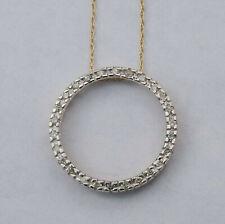 Ladies Circle Hearts Genuine Diamond Pendant w/ 27 Dia. In 10K Yellow Gold