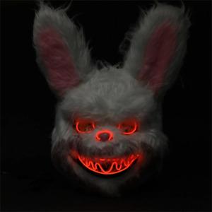 Mad Rabbit LED Mask Super Scary Halloween Light up Mask Cosplay Costume Mask
