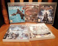 5 PS3 GAMES LOST PLANET 2 BATMAN BRINK CALL OF JUAREZ BLOOD BLACKSITE NICE DISCS