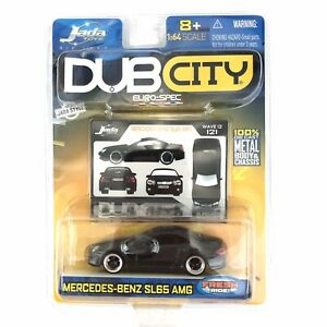 Jada Toys Dub City Euro-Spec Mercedes-Benz SL65 AMG Black Die Cast 1/64 Scale