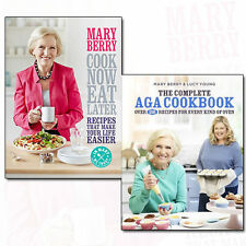 Mary Berry Collection Cook Now,Eat Later & The Complete Aga Cookbook 2 Books Set