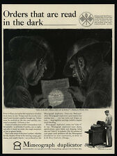 1942 MIMEOGRAPH Duplicator - WWII - NORMAN PRICE Art - Air Defense - VINTAGE AD