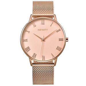 Infinity NB 05 Rosegold Women Minimalist Watch - Mesh Belt Women Fashion watch