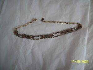 Anne Koplik Designs Choker Vintage-Style  Swarovski Crystals Open Work Necklace