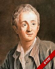 DENIS DIDEROT FRENCH AUTHOR POET PORTRAIT PAINTING HISTORY ART REAL CANVAS PRINT