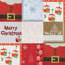 Christmas Paper Party Napkins Serviettes Xmas Tableware Disposable Packs of 16