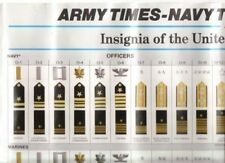 """U.S. MILITARY INSIGNIA POSTER CHART  - about 18 x 24"""" - c.1991"""