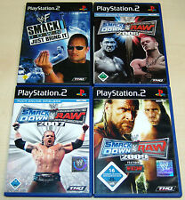 4 PLAYSTATION 2 giochi ps2 Smackdown Raw 2007 2009 WWE ECW WWF Wrestling (12 13)