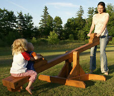 PLANS to build a teeter-totter see-saw.  Playground equipment.