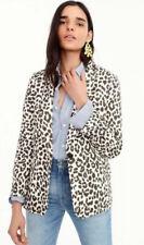 "J.Crew ""Safari Cat"" Animal Print 2pc Linen Suit Blazer + Pants NWT&Gorgeous Sz 0"