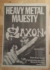 Saxon album tour Majesty 1979 press advert Full page 28 x 39 cm mini poster