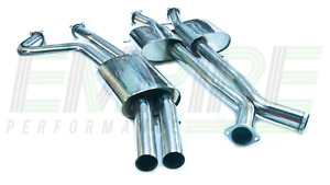 """COMMODORE SS HSV V8 5.7 6.0 VT VX VY VZ UTE TWIN 3"""" CAT BACK EXHAUST STAINLESS"""