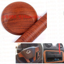 30cmx120cm Trailer SUV MPV Brown Wood Grain Vinyl Wrap Sticker Decal Film Sheet