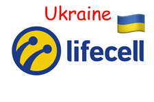 1 st Lifecell Ukraine Prepaid Sim Card NEW