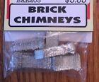 BAR MILLS 203 HO Brick Chimneys pack - cast metal MODELRRSUPPLY  $5 Coupon Offer