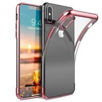 Schutzhülle Apple iPhone Xs Slim Glanz Case Handy Cover Hülle Case Bumper Tasche