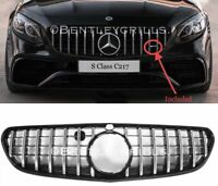 MERCEDES C217 A217 S CLASS PANAMERICANA GRILLE AMG 2017 BLACK AND CHROME GRILL